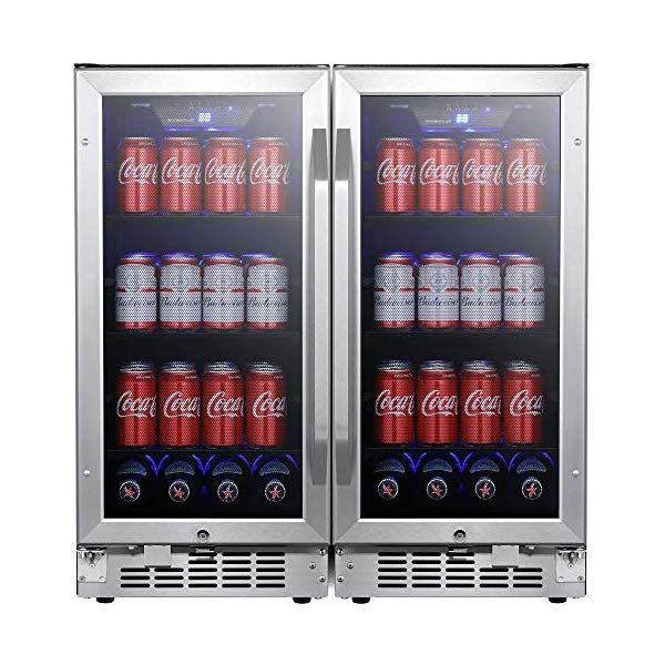 Edgestar Cbr902sgdual 30 Inch Wide 160 Can Built In Side By Side Beverage Cooler Canning Beverage Refrigerator Beverages