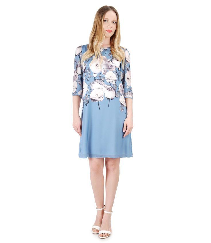 Delicate as the spring sky SPRING17 | YOKKO #blue #flowers #dress #floralprint #spring17 #woman #beauty #fashion #yokko
