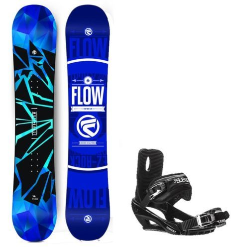 Snowboards 93825: 2017 Flow Burst 162Cm Wide Snowboard+5Th Element Bindings With Cap Strap New BUY IT NOW ONLY: $259.95