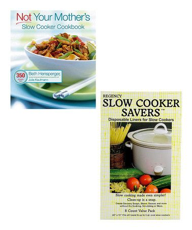 This Slow Cooker Recipe Book & Liner Set by Harold Import Co. is perfect! #zulilyfinds