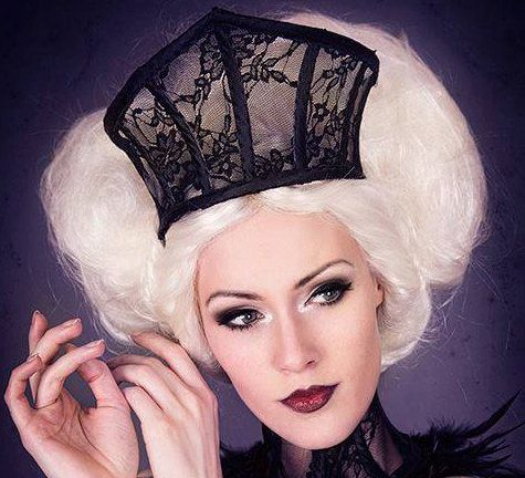 Black lace gothic crown-gothic by DarkEmbraceHandmade on Etsy