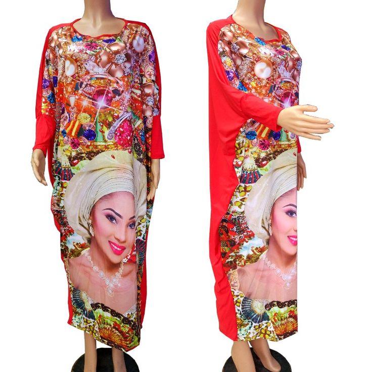 Robe Africaine Frauen Afrikanische Kleidung Förderung Polyester Afrikanische Kleider 2017 Neue Stil, Mode Frauen Kleidung