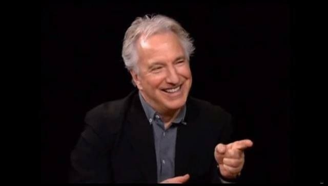Alan Rickman :: screenshot from Charlie Rose interview, February 2012