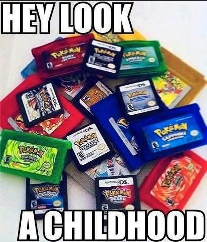 Pokemon games~ I remember these. I can't believe I still have my old Game Boy Color with Pokemon Yellow Edition ;)