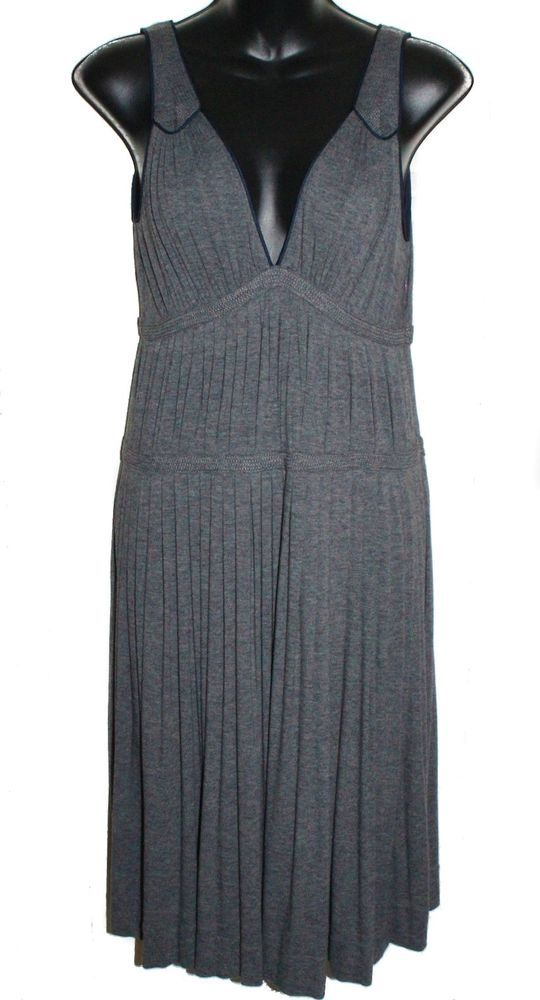 MARC JACOBS Womens Dress Pleated Gray Size S #MarcJacobs #Casual