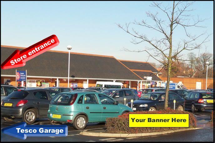 Banner location in Stowmarket Tesco