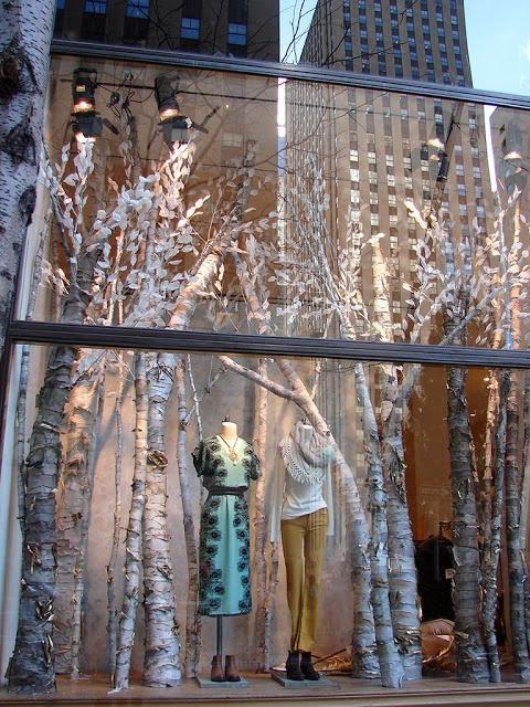 (A través de CASA REINAL) >>>>  Beautiful Window Displays!: anthropologie >> winter trees