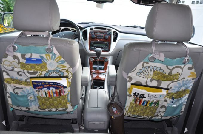 Make you own car seat organizers. I think I'm going to print the instructions and ask my sewing expert mom to make them for my Christmas present.