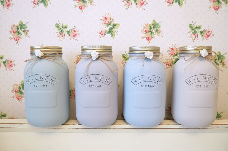 Painted 1 Litre Kilner Jars at lauren kate interiors