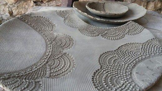 Crochet plate