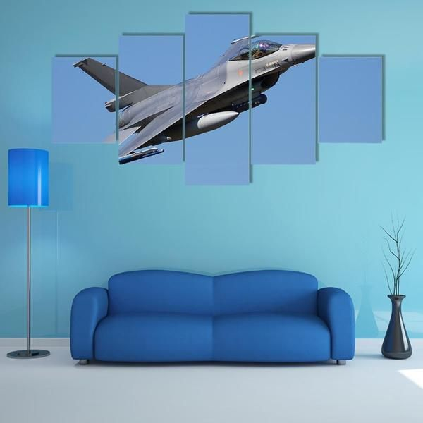 Fighter Jet Flyby Multi Panel Canvas Wall Art Canvas Wall Art Big Wall Art Aviation Decor