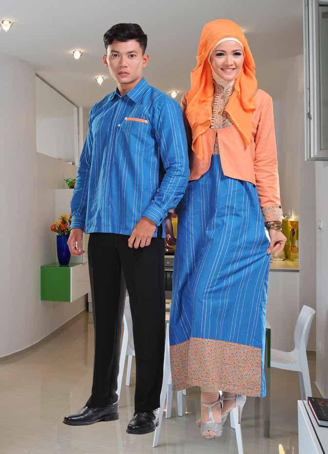 Baju Batik Couple Muslim