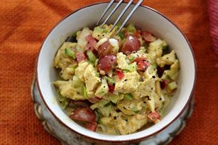 Creamy Curried-Chicken Salad with Grapes recipe