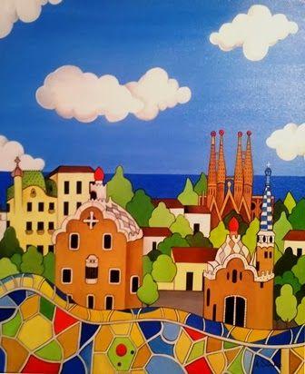 Barcelona by Ana Sanchez, oil on canvas