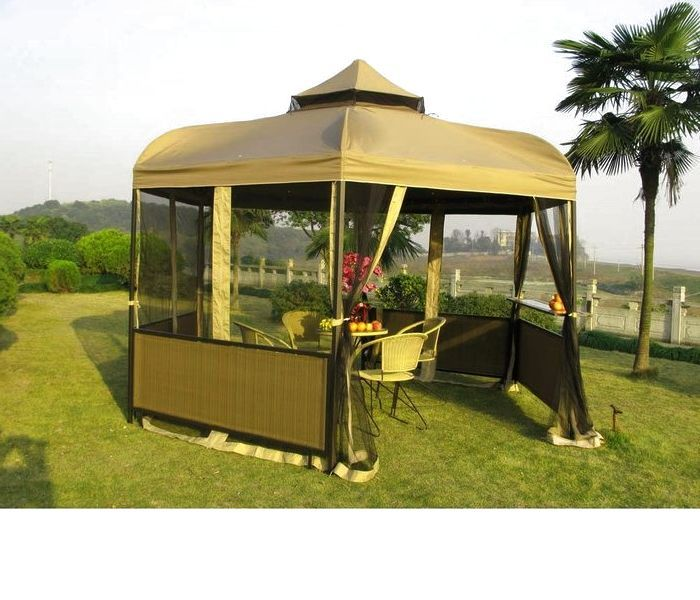 gazebo tent provided the perfect outdoor summer shelter - Screened Gazebo