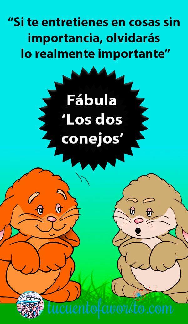 Los Dos Conejos Una Fabula Sobre La Terquedad Para Ninos Fabulas Para Ninos Lectura Cortas Para Ninos Moralejas Para Ninos