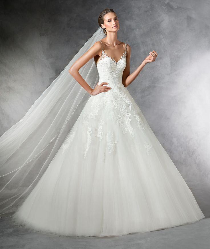 PRALA - Abito da sposa in tulle in stile principessa