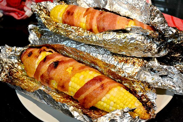 BBQ Bacon Wrapped Corn