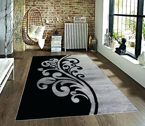 Encouraging Black And White Striped Outdoor Rug