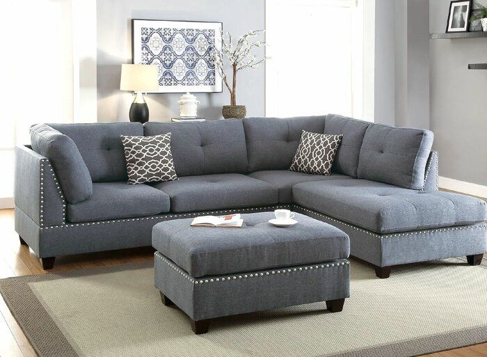 Alcott Hill Charlemont Reversible Sectional With Ottoman Reviews Wayfair Living Room Decor Modern Couches Living Room Living Room Sectional