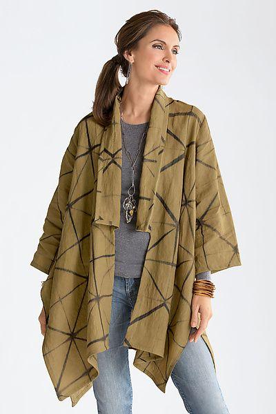 Kimono Jacket: Amy Nguyen: Shibori Jacket   Artful Home