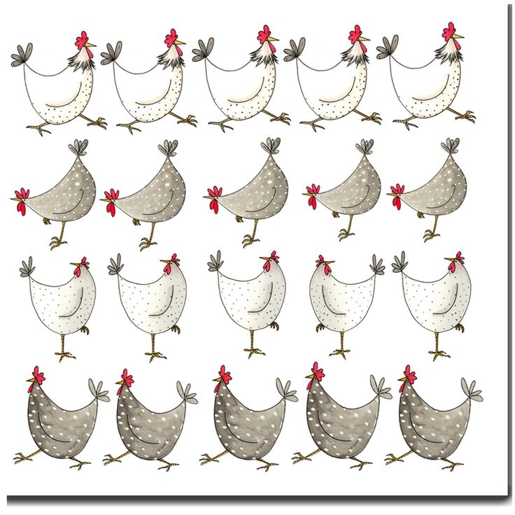 The 15 best peinture images on pinterest canvases acrylic art and china painting - Poulet dessin ...