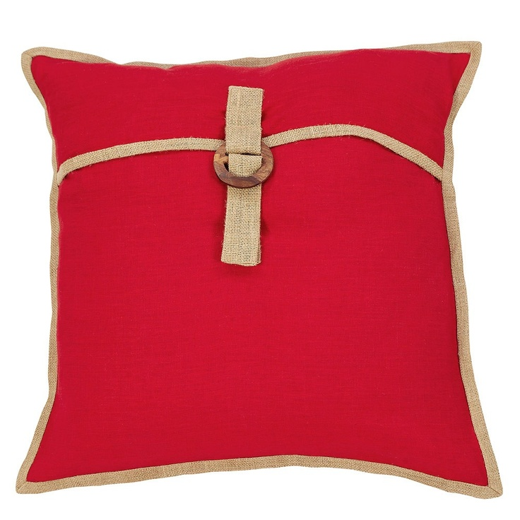 Red Avery Linen Cushion - IDC - on Temple & Webster today.