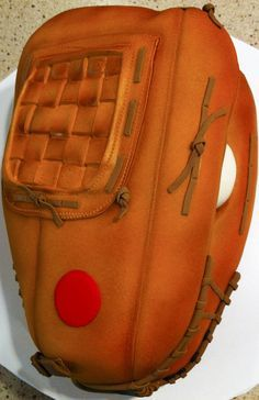 Baseball glove cake from SugarEd Productions
