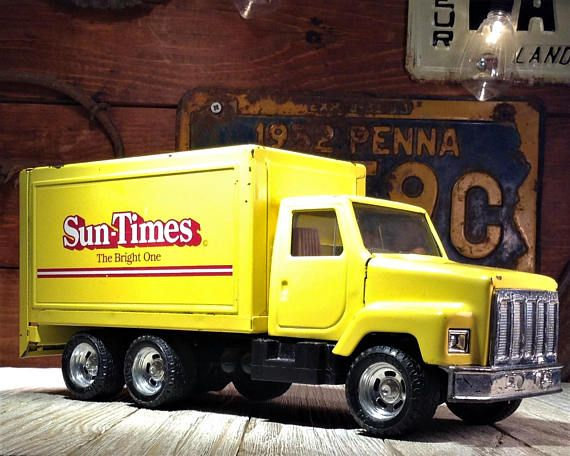 Ertl Truck Chicago Sun Times Delivery Truck Rare Private Ertl Trucks Metal Toys