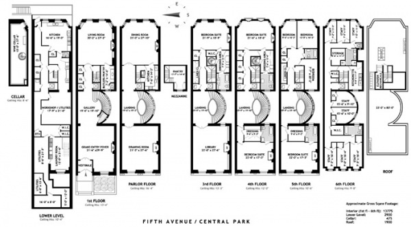 Stanford White Mansion Floorplan