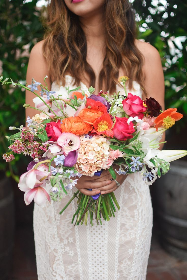 bright and beautiful colorful bouquet