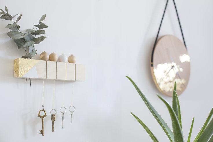 [ DIY ]Un tasseau de bois recyclé en porte clef épuré -La Délicate Parenthèse