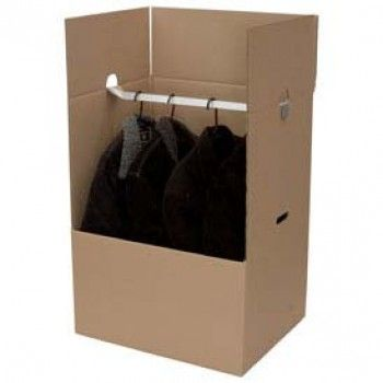 Mini Wardrobe Box - No folding of clothes, just hang them directly onto the rail.