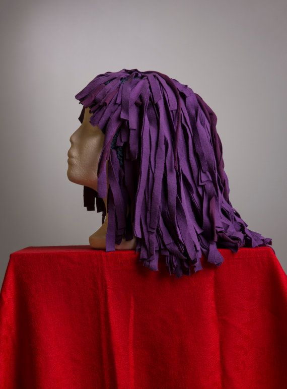 Purple Cleopatra Wig  Fabric Strips on by fiberfanaticfandango, $28.00