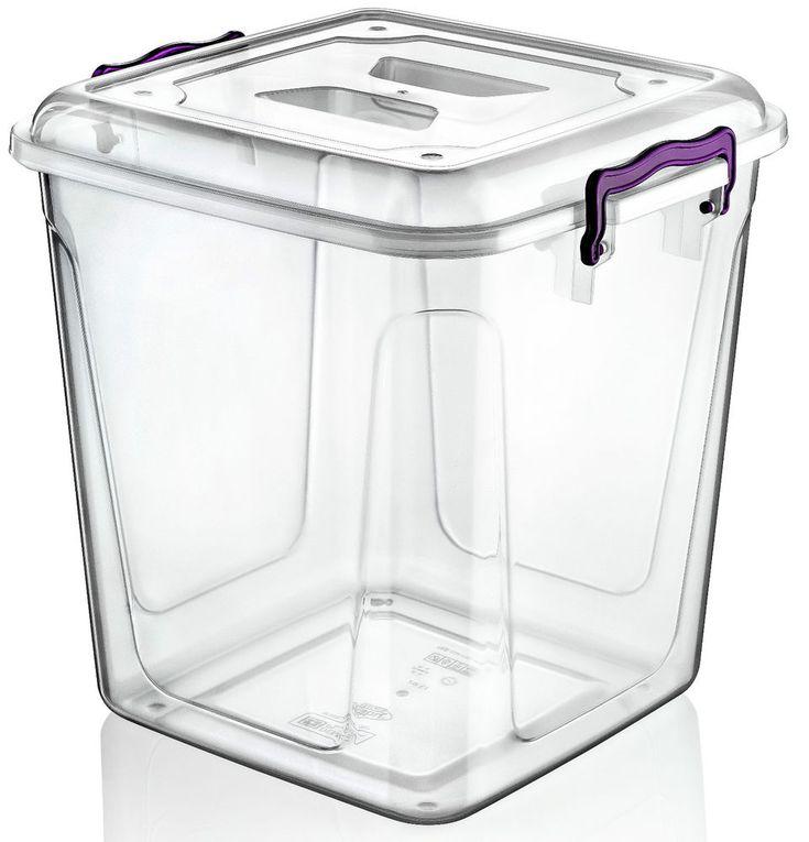 £10 Large 20 Litre Clear Plastic Box Kitchen Food Flour Storage Container Tub Boxes