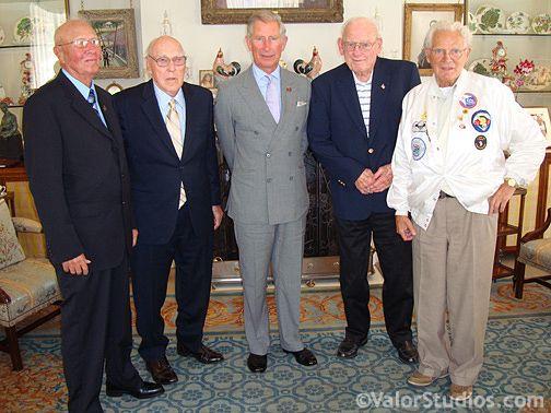 Bradford Freeman, Ed Tipper, Prince Charles, Lynn Compton and Don Malarky