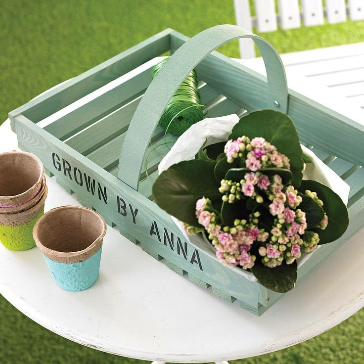 Personalised Garden Trug   Personalised Gifts For Her