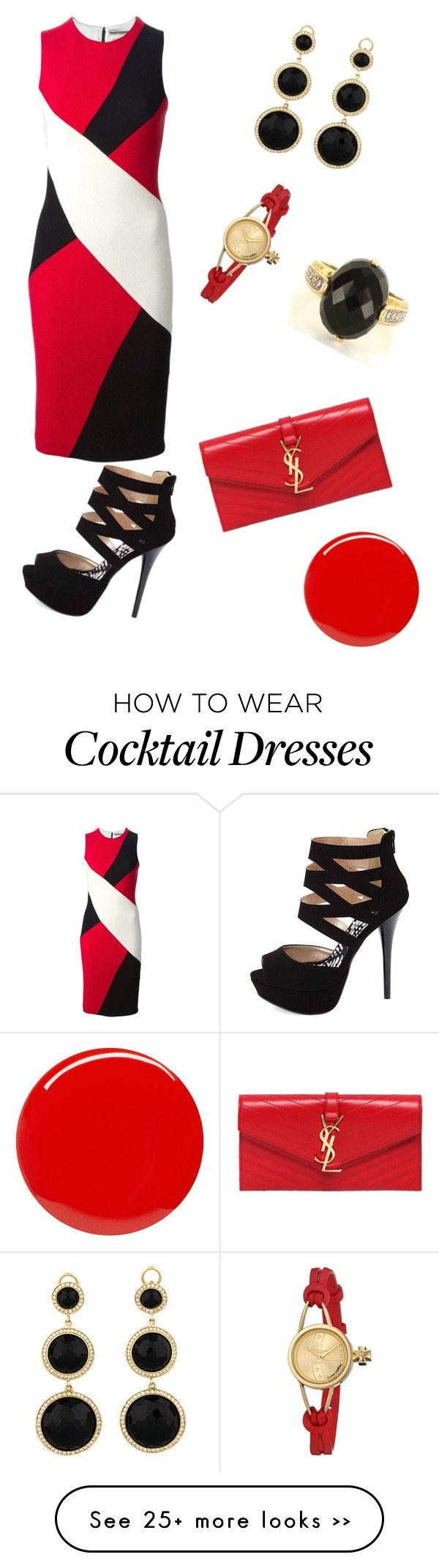 """Cocktail Hour in Red"" by colourmepretti on Polyvore"