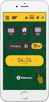 ¡La cortadora de césped robótica con una aplicación para smartphone!