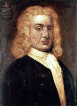 William Kidd, privateer, pirate. 18th century portrait by Sir James Thornhill. Source: english wikipedia.