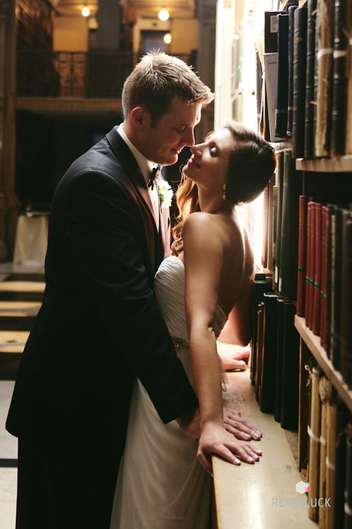 Brides: A Library-Themed Wedding in Baltimore, Maryland