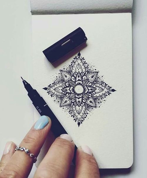 black, mandala, and white image