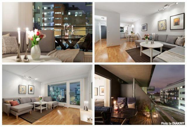Løren - Attraktiv 3-roms selveier med heis, sydvendt balkong på ca. 9 m² og garasjeplass. V.V. og fyring inkludert.