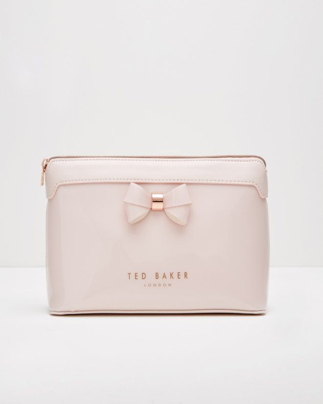 Layered bow wash bag - Baby Pink | Gifts for Her | Ted Baker $49