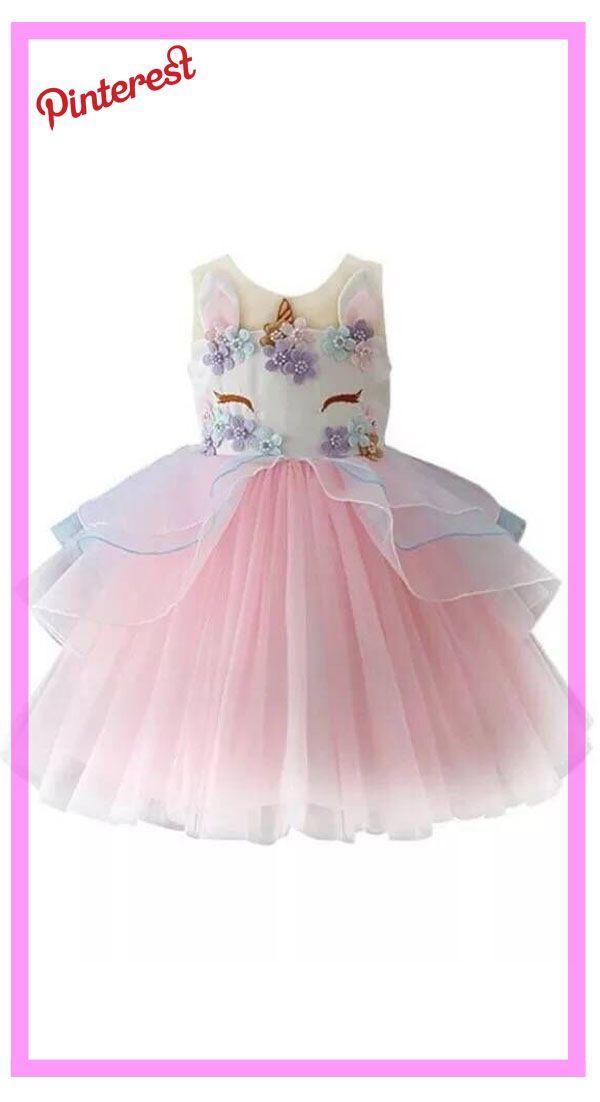 52e188b76 Princesa de las muchachas Traje Unicornio Tule Tutu Fiesta De ...