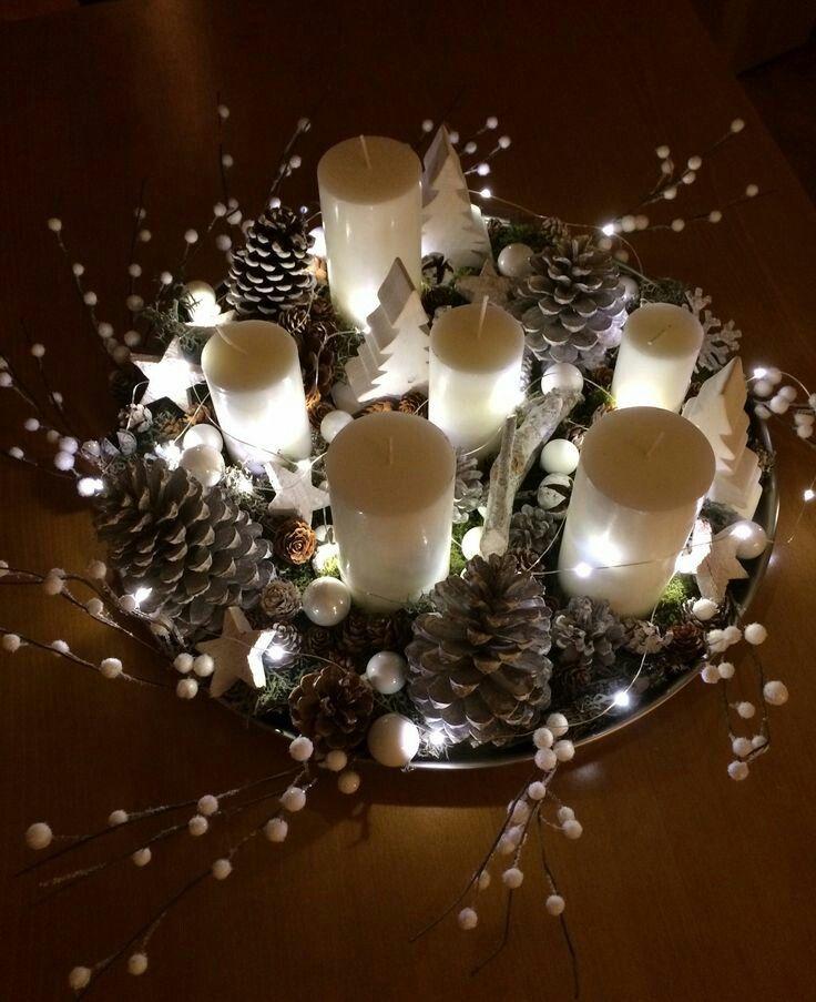 Decoration Table Noel Bougie