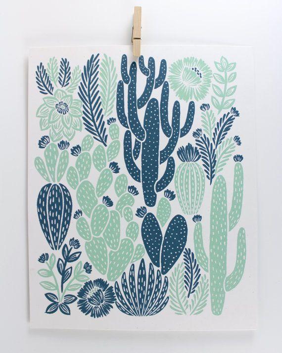 Impresión de cactus