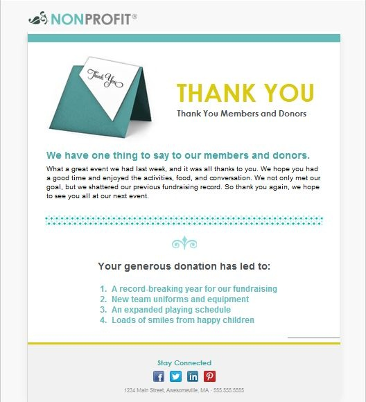 Show The Members Of Your Organization How Much You Appreciate Them With Our  NEW Nonprofit Thank · Newsletter TemplatesEmail ...
