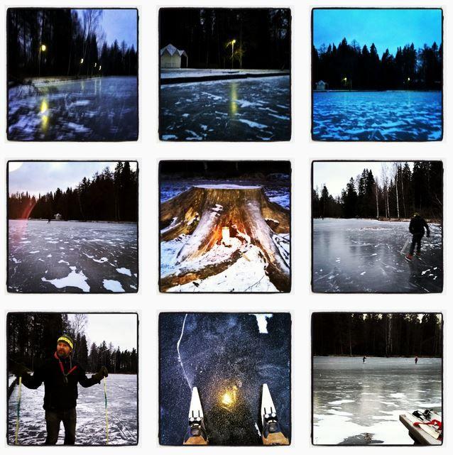 Skating at Aulanko - by Joutsenlampi - Swan Pond and Metsälampi /Forest Pond  January 2016 #Aulanko #Hämeenlinna
