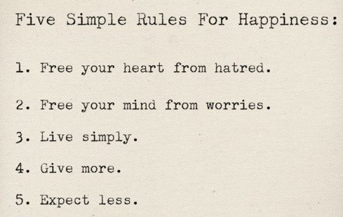 yeah.. simple..: Thoughts, Life, Happy, Simple Rules, Wisdom, Happiness, Things, Living, Inspiration Quotes